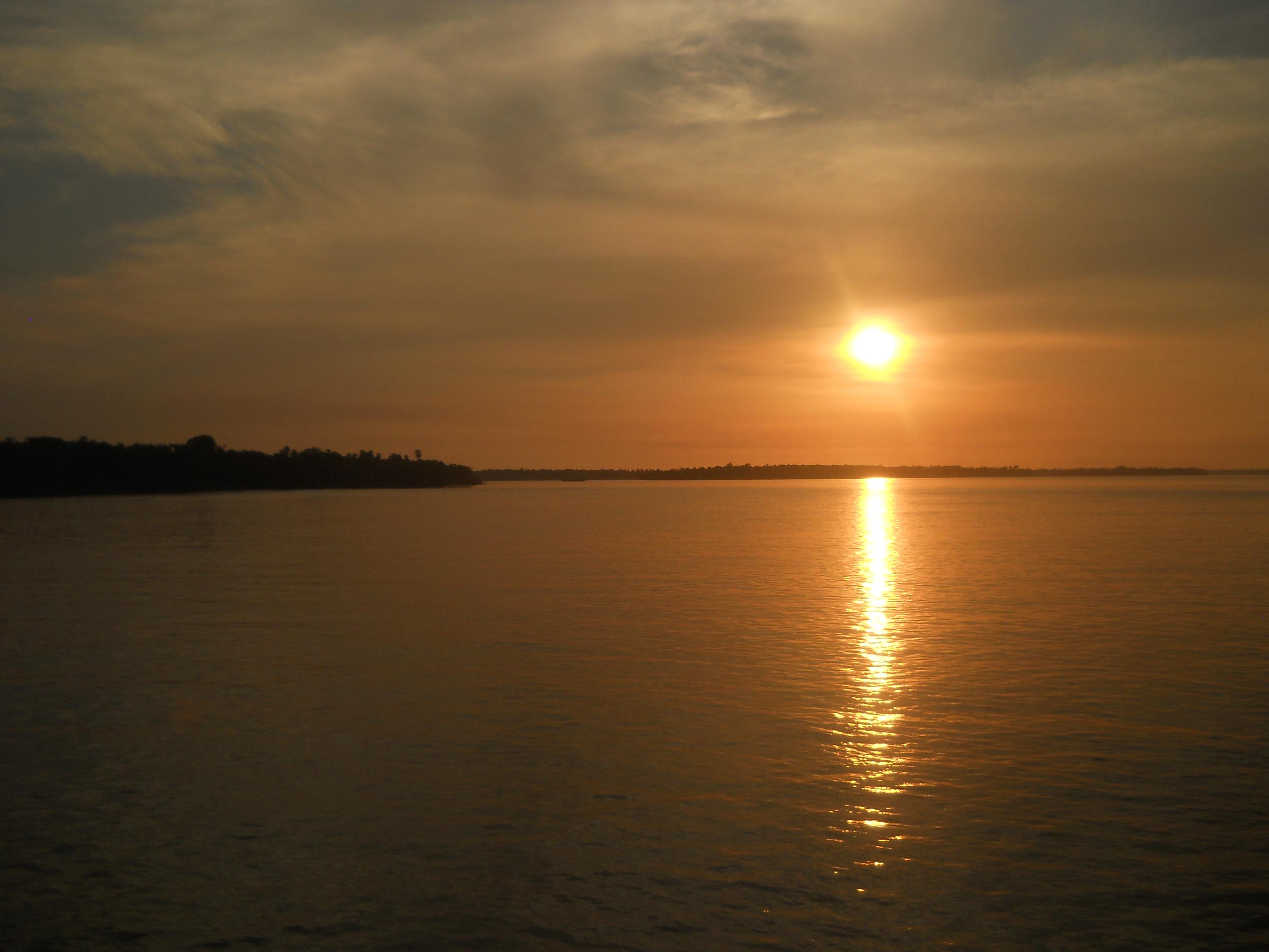 amazzonia tramonto